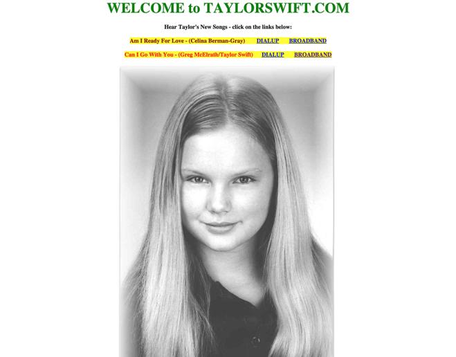 taylorswift.com November 2002